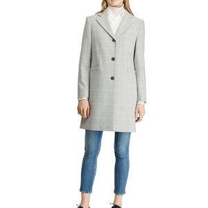 RL Gingham Grey Coat